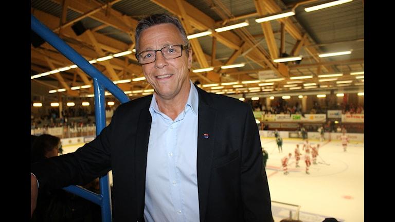 Skövde IKs klubb/sportchef Hans Ljunggren tyckte det blev ett lyckat arrangemang. Foto: Petra Dydiszko, P4 Skaraborg/Sveriges Radio