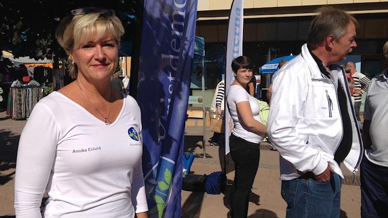 Kristdemokraten och riksdagsledamoten Annika Eclund från Tibro. Foto: Kristoffer Hilmersson/P4 Skaraborg