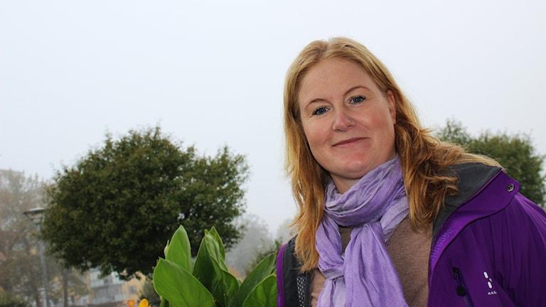 Petronella Larsson är dagens nyårskompis. Foto: Christopher Johansson/Sveriges Radio.
