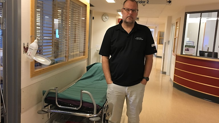 Hans Hallén, verksamhetschef vid akuten i Skövde.