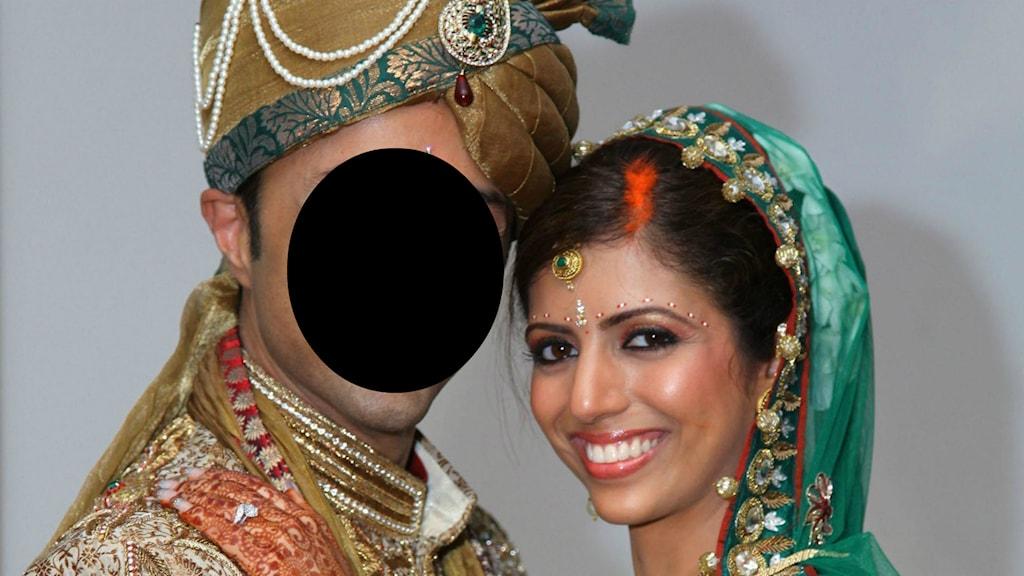 Anni Hindocha och hennes make. Foto: TT