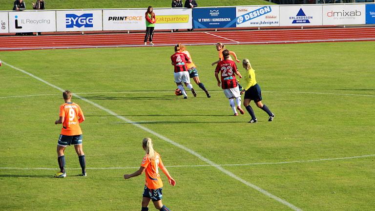 Lidköpings FK tog klivet upp i elitettan efter att ha kvalat mot Kungsbacka. Arkivfoto: Per Söderhjelm / Sveriges Radio