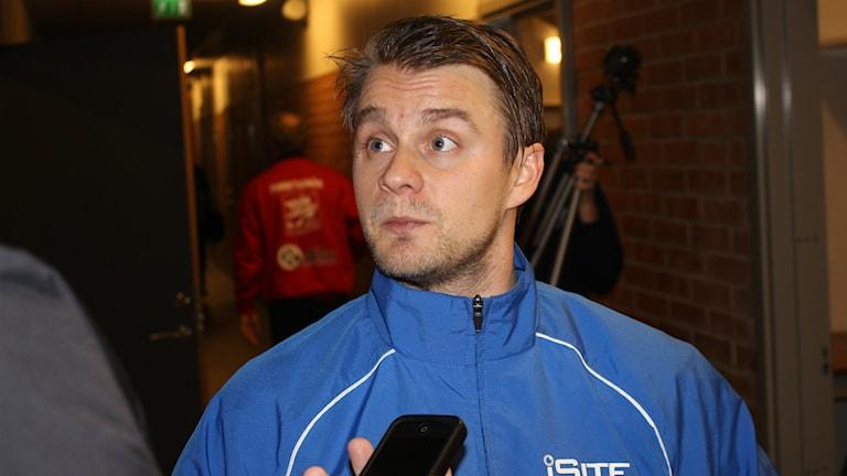 Villa Lidköpings målkung David Karlsson såg till att det blev seger i annandagsderbyt tack vare sina fyra mål. Arkivfoto: Jens Prytz, P4 Skaraborg Sveriges Radio.