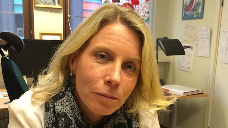 Sandra Säljö är IFO-chef i Töreboda. Foto: Tomas Ek / Sveriges radio