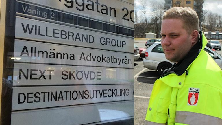 Henrik Berggren, evenemangschef Next Skövde. Bilden är ett montage. Foto: Mats Öfwerström och Viktoria Svedlund / Sveriges radio