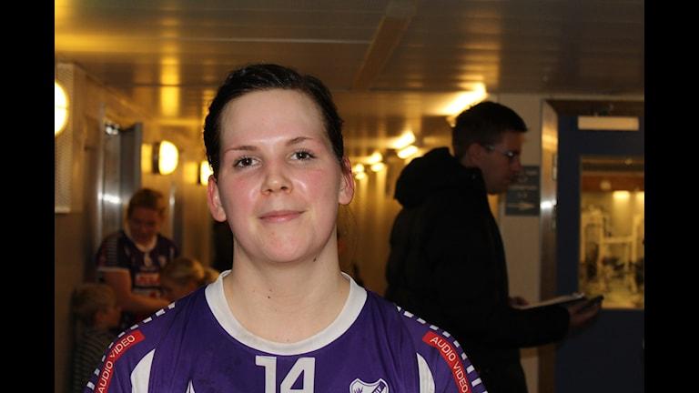 Gabriella Skogsberg Skara HF. Foto Tommy Järlström P4 Skaraborg Sveriges Radio.
