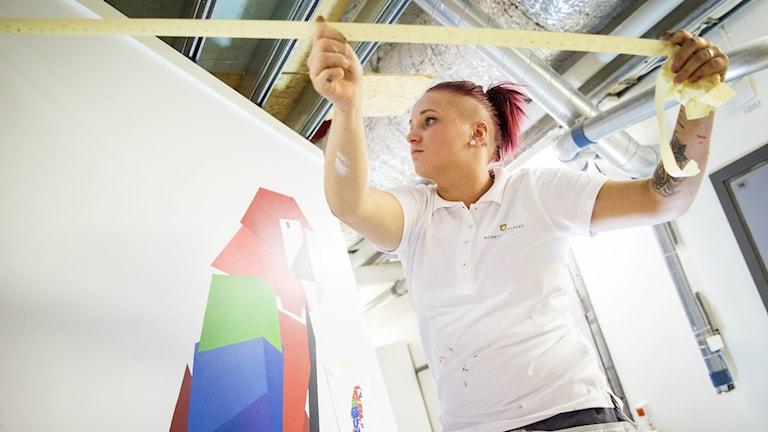 Jenny Albertsson från Töreboda klar för måleri-VM 2015 Foto: Målerilandslaget/pressbild