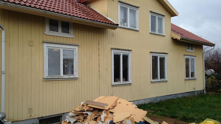 Familjen Olssons hus i Kvänum. Foto: Jenny Josefsson P4 Skaraborg Sveriges Radio