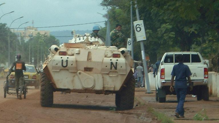 Gatumiljö i huvudstaden Bangui.