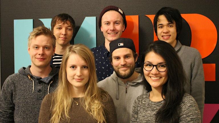 Studentföretaget Solstice games har fått pris från högskolan för sitt dataspel Carpet Kitty. Foto: Torbjörn Borg / P4 Skaraborg Sveriges Radio