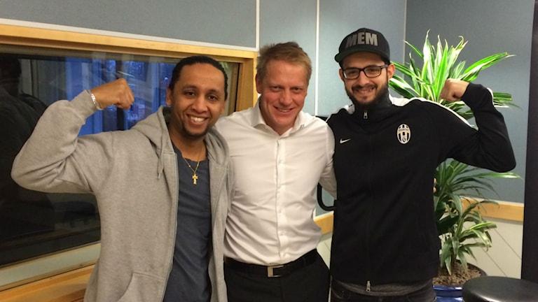Natale Michael och Bekim Murati har utmanat endurovärldsmästaren Anders Eriksson på armbrytning till förmån för Musikhjälpen.