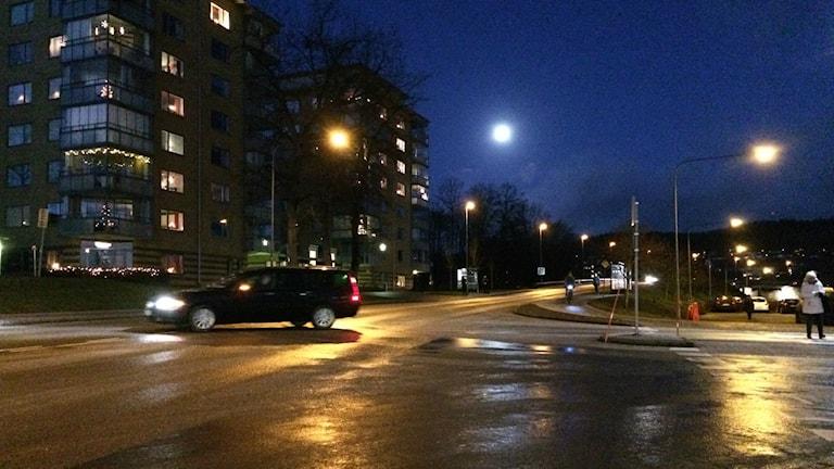 Glashal gata decembermorgon i Skövde. Foto: Mats Öfwerström / Sveriges radio