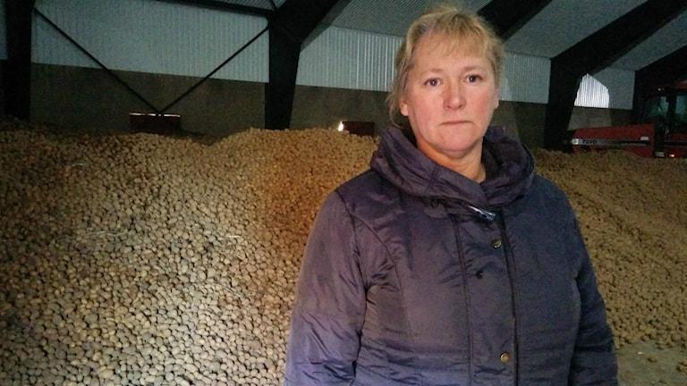 Wanja Wallemyr, ordförande Skaraborgs potatisodlareförening.