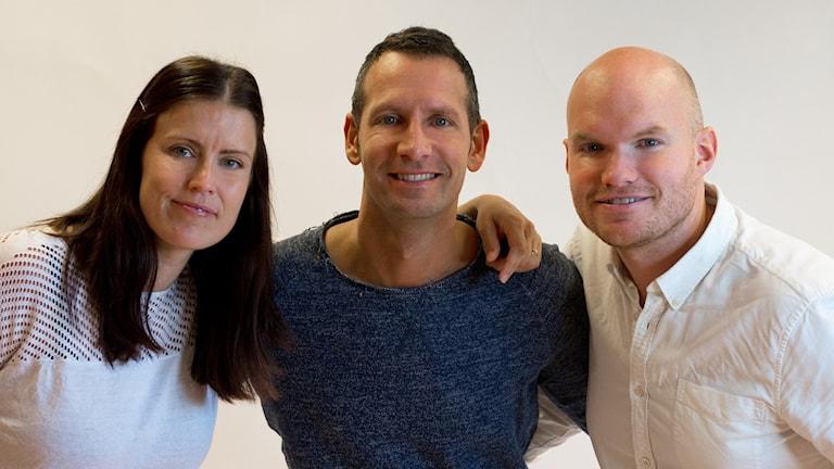 Linda, Torbjörn och Christopher i P4 Morgon.