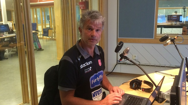 Magnus Frisk, tränare för Skövde HF. Foto:Margareta Lilja/P4 Skaraborg Sveriges Radio