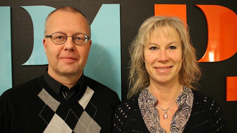 Helén Thorstensson och Christer Karlgren om förebyggande föreläsningar om droger.