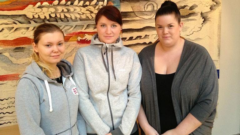 Elever på BYS djurvårdarutbildning i Skara. Foto: Jenny Josefsson / Sveriges Radio.