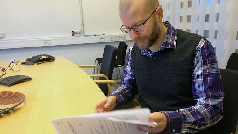 Marcus Nohlberg. Foto: Mats Öfwerström / Sveriges Radio