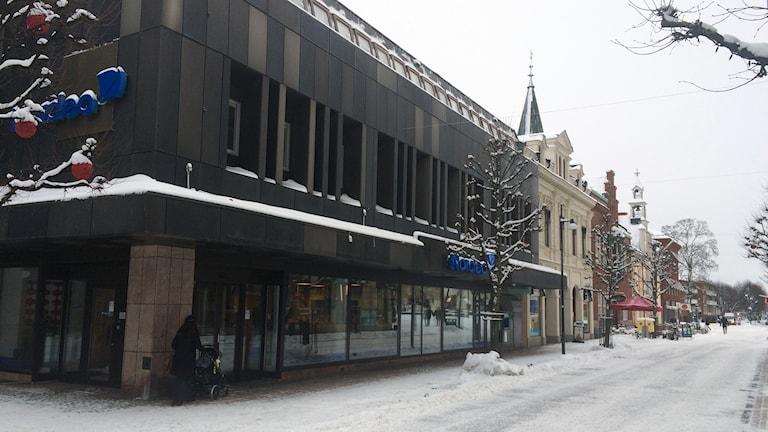 Nordeas kontor Skövde: Foto: Mats Öfwerström / Sveriges Radio