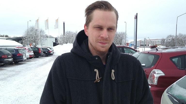 Kristoffer Karlsson i Töreboda. Foto: Jenny Josefsson P4 Skaraborg Sveriges Radio