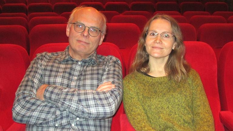 Anders Eriksson och Anoo Niskanen Naing om finsk film på Odeon i Skövde.