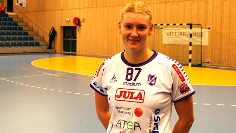 Carolina Järlstam i Skara HF var duktig mot Boden. Foto/arkiv P4 Skaraborg Sveriges Radio.