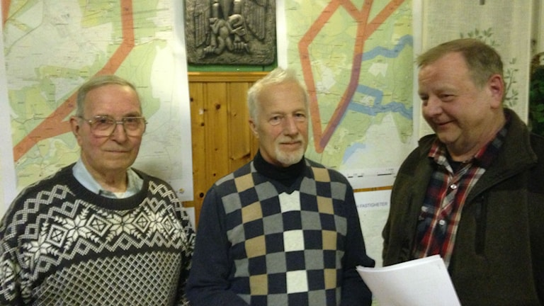 Stig Lundberg, Ingemar Henriksson och Bo Johansson. Foto: Jenny Josefsson / Sveriges Radio.