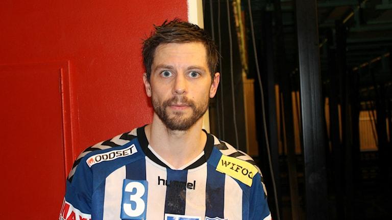 Rasmus Wremer, åttamålsskytt mot Redbergslid. Foto Tommy Järlström P4 Skaraborg Sveriges Radio.