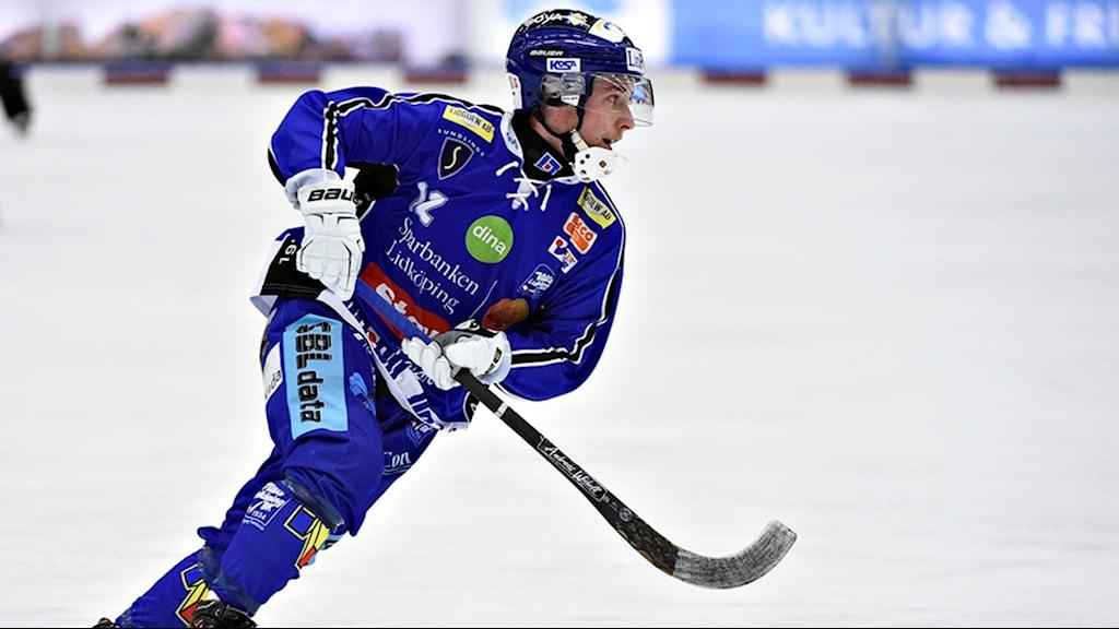 Tim Persson är just nu skadad men kommer att fortsätta spela i Villadressen nästa säsong. Foto: Team Fabbe/Sören.