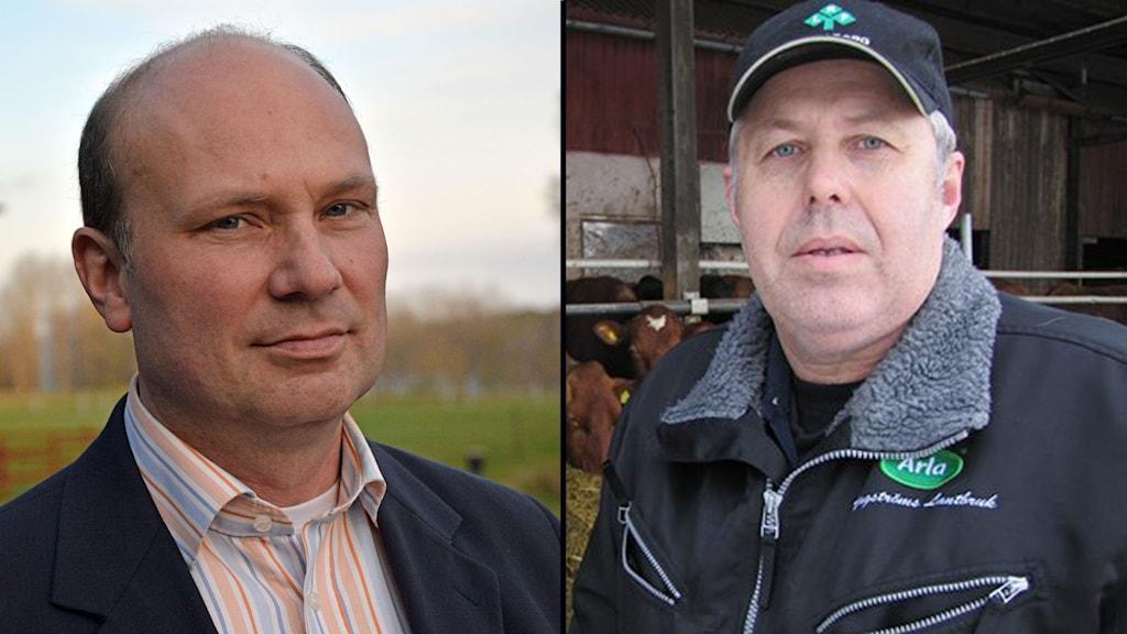Björn Thodenius (M) och Bo Hagström (C). Foto: Pressbild / Rebecca Sutton / Sveriges Radio