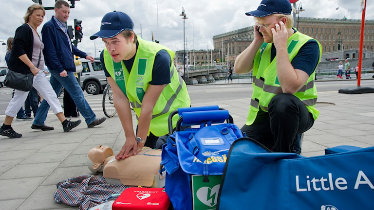 Frivilliga hjärträddare har funnits i Stockholm i flera år. Nu införs modellen i Västra Götaland. Foto: Leif R Jansson / TT