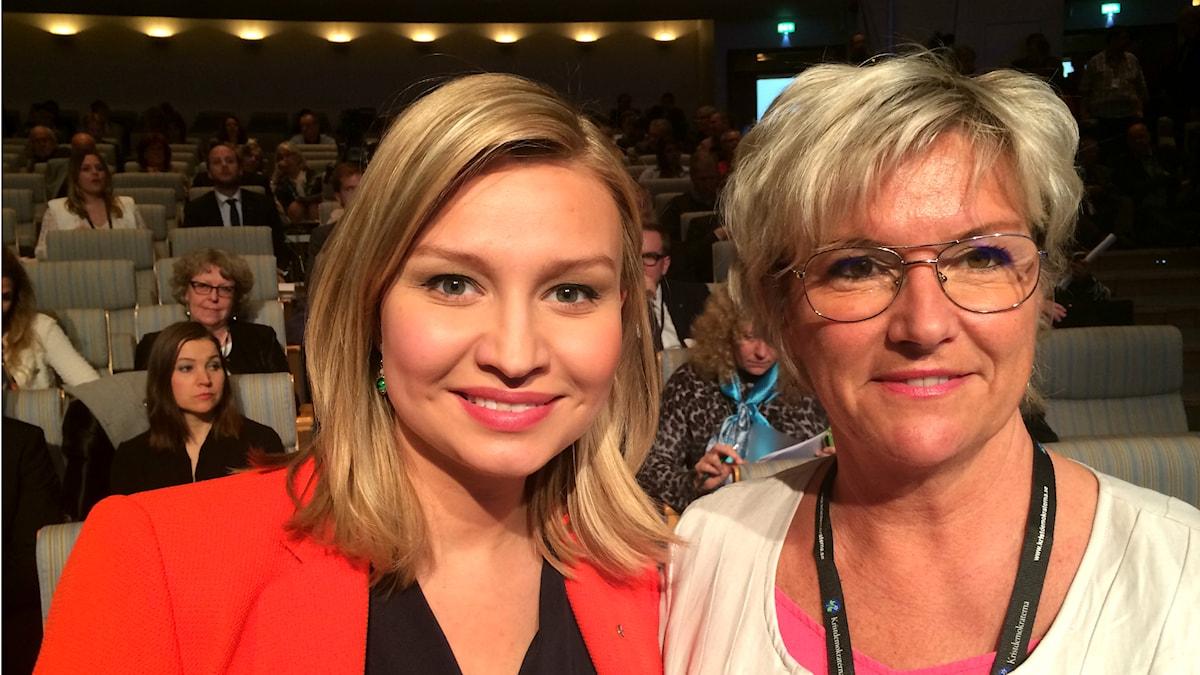 Ebba Busch Thor och Annika Eclund. Foto: Privat