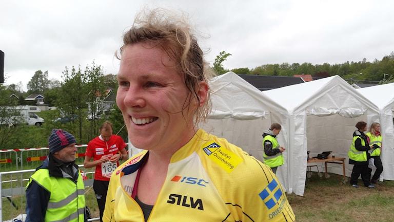 Helena Jansson visade med sin seger i världscupen att hon är tillbaka bland världseliten. Foto: Bengt Israelsson/Sveriges Radio.