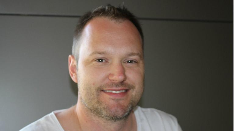 Magnus Muhrén målskytt direkt. Foto Tommy Järlström P4 Sveriges Radio.