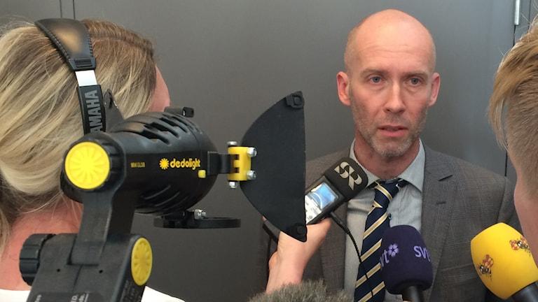 Vice chefsåklagare Lars-Göran Wennerholm. Foto: Mats Öfwerström P4 Skaraborg