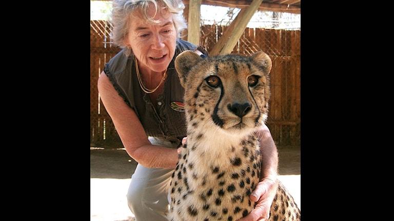 Erika Fredholm och Cheetah. Foto: Privat