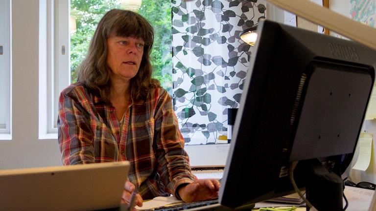 Christina Marmolin, miljöchef i Skara kommun. Foto: Marthina Stäpel / Sveriges Radio.