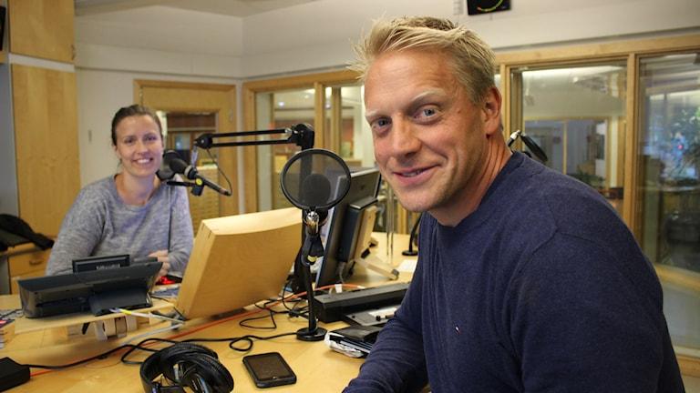Fredagskompisen och endurovärldsmästaren Anders Eriksson kommer få utmaningar av Linda Gustavsson. Foto: Malin G Pettersson/Sveriges Radio