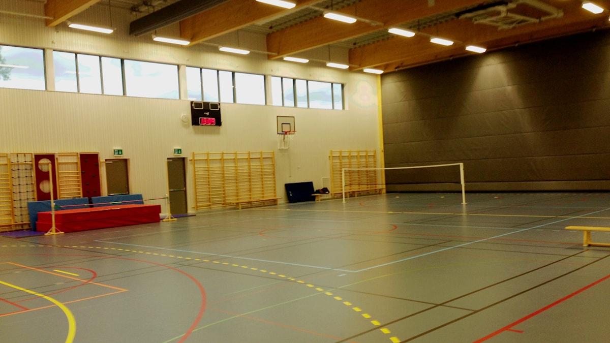Idrottshall Billingskolan. Foto: Linnéa Frimodig/Sveriges Radio