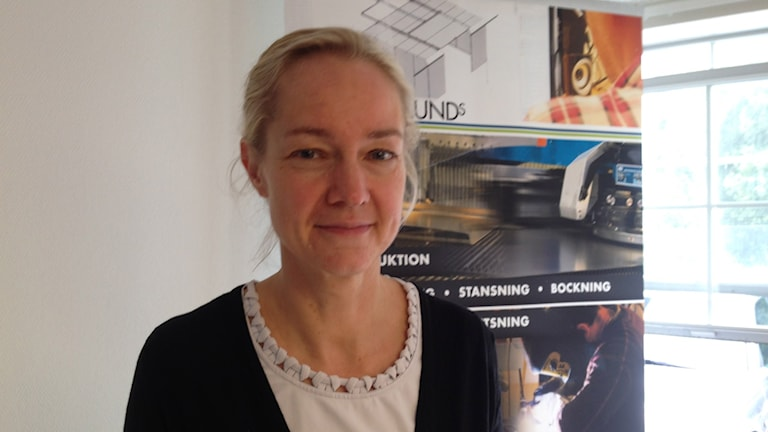 Idag besökte vice riksbankschef Cecilia Skingsley Skaraborg. Foto: Linnea Frimodig