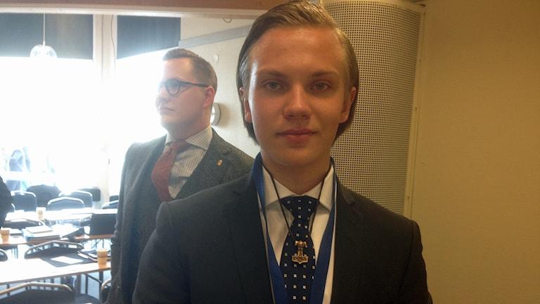 Tobias Andersson. Foto: Elisabeth Cederblad/Sveriges Radio.