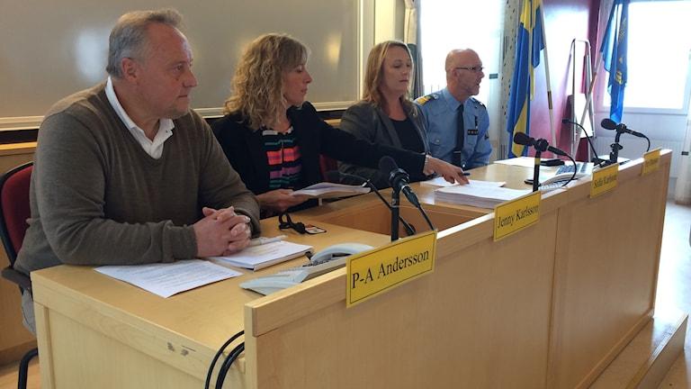 Presskonferens i polishuset i Skövde. Foto: Mats Öfverström