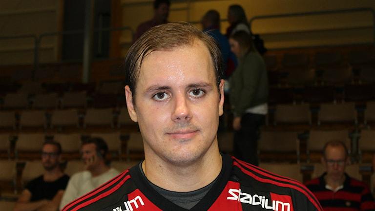 Niklas Forsmoo HK Country som gjorde sex mål i premiären. Foto Tommy Järlström P4 Sveriges Radio.
