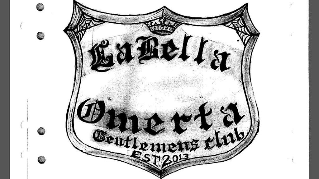 La bella omertá emblem från polisens förundersökning