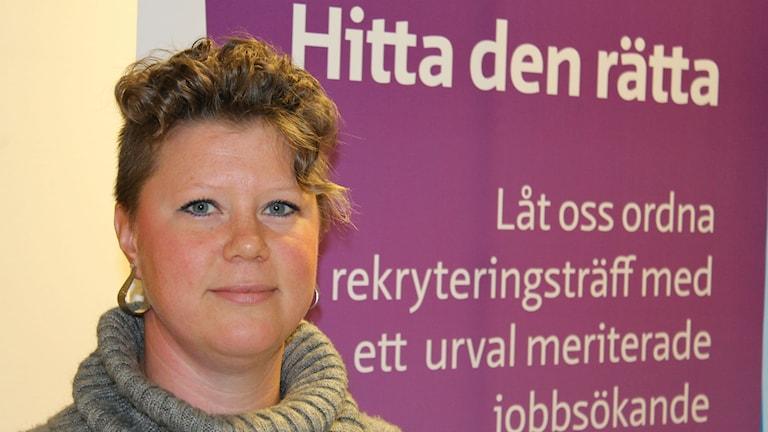 Melinda Törnqvist, arbetsförmedlare. Foto: Sten Lillieström / P4 Skaraborg