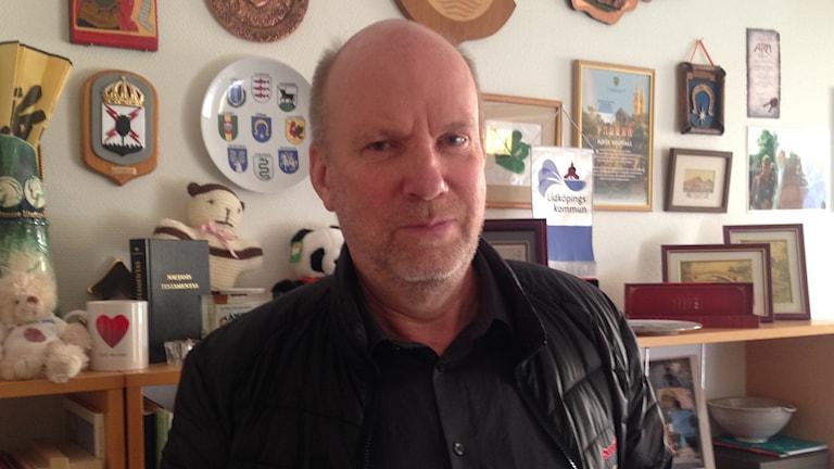 Kjell Hedvall, kommunstyrelsens ordförande i Lidköping. Foto: Linnéa Frimodig/ Sveriges Radio