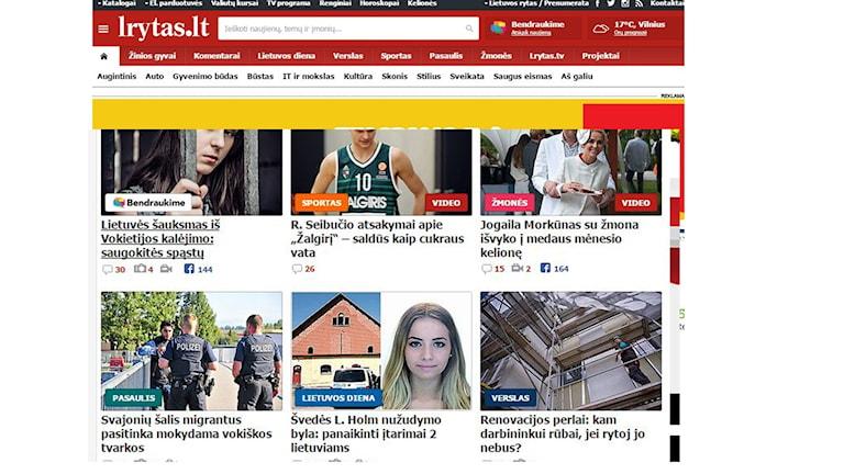 Lisa Holm i litauisk media. Bilden är ett fotomontage.