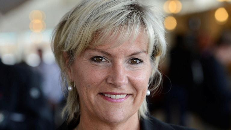 Annika Eclund, KD, berättar att partiet lämnar Decemberöverenskommelsen. Foto: Leif R Jansson/TT