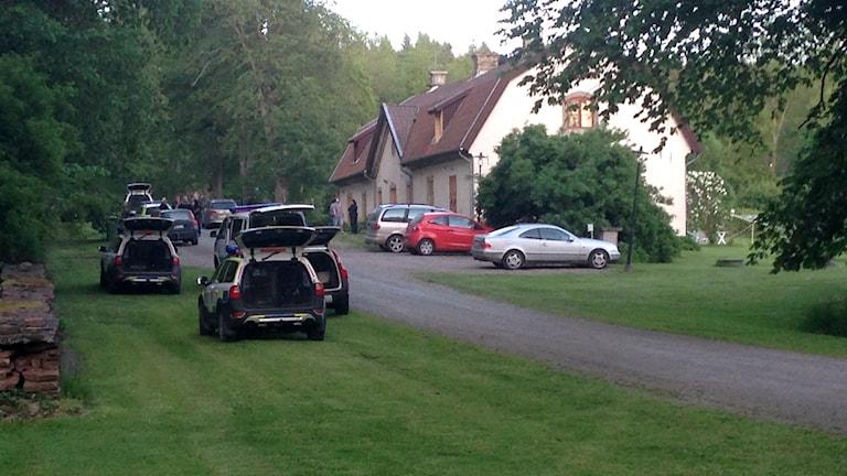 Huset där 35-åringen bodde med sin bror och hustru. Foto: Kajsa Hallberg/Sveriges Radio