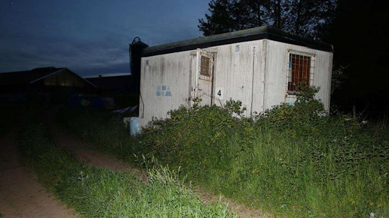 Arbetsboden där Lisa Holm hittades död. Foto: Polisen